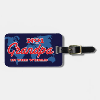 Map Number 1 Grandpa Luggage Tag