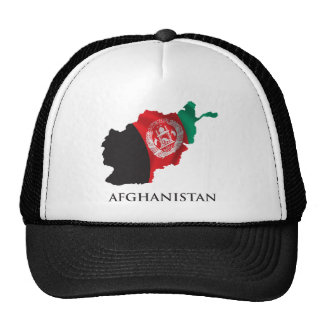 Map Of Afghanistan Mesh Hat
