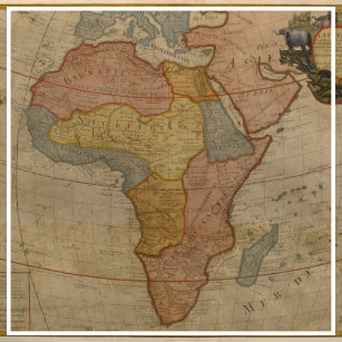 Map Of Africa 1700.Vintage African Map Accessories Zazzle Com Au