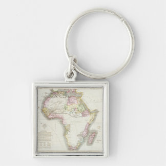 Map of Africa, 1821 Keychains