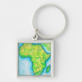 Map of Africa 3 Keychain