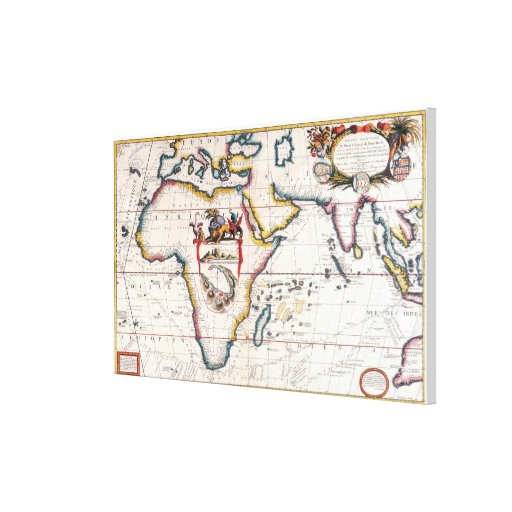 Map of Africa 4 Gallery Wrapped Canvas