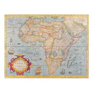 Map of Africa 4 Postcard