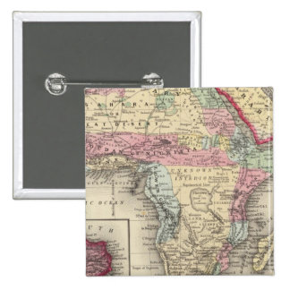 Map Of Africa 15 Cm Square Badge