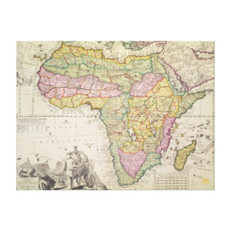 Map of Africa Canvas Print