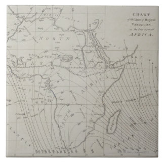 Map of Africa Ceramic Tile