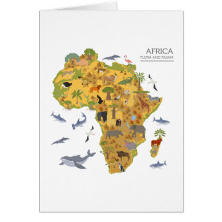 Map of Africa | Flora & Fauna Card