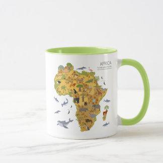 Map of Africa   Flora & Fauna Mug