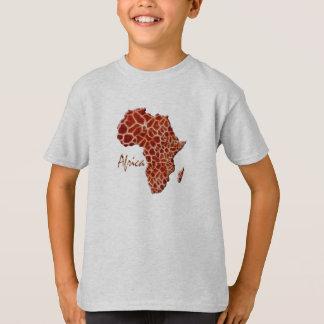 Map of AFRICA L'Afrique Giraffe Spots Design T-Shirt