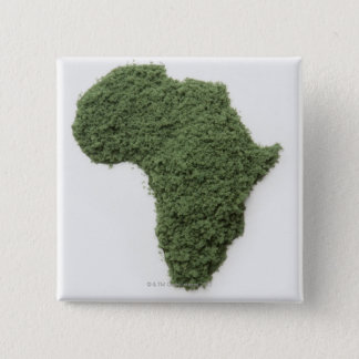 Map of Africa made of grass 15 Cm Square Badge