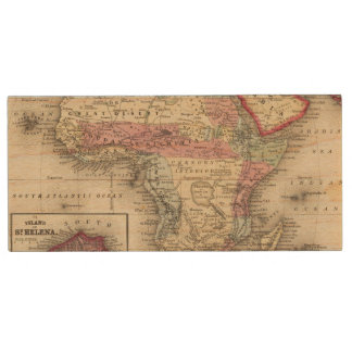 Map Of Africa Wood USB 2.0 Flash Drive