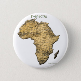 Map of AFRICA Series 6 Cm Round Badge