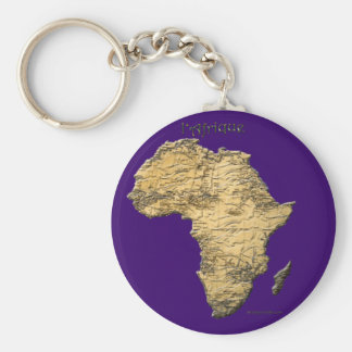 Map of AFRICA Travel Collection Basic Round Button Key Ring