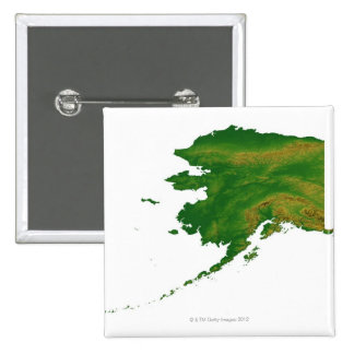 Map of Alaska 2 15 Cm Square Badge