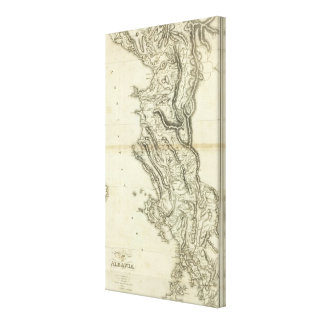Map of Albania Canvas Prints