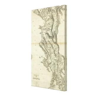 Map of Albania Canvas Prints