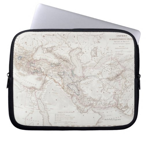 Map of Alexander the Greats Empire Laptop Computer Sleeve