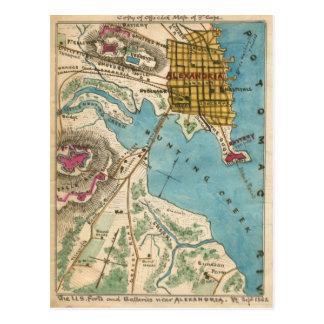 Map of Alexandria VA and Neighbor Cities Postcard