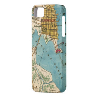 Map of Alexandria VA and Neighboring Cities iPhone 5 Cases