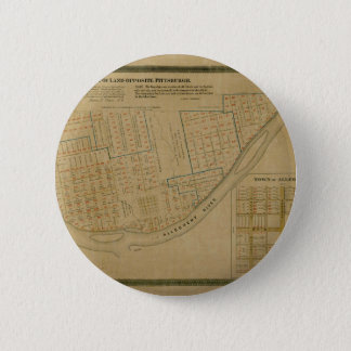 Map Of Allegheny 1863 6 Cm Round Badge