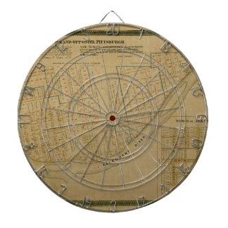 Map Of Allegheny 1863 Dartboard