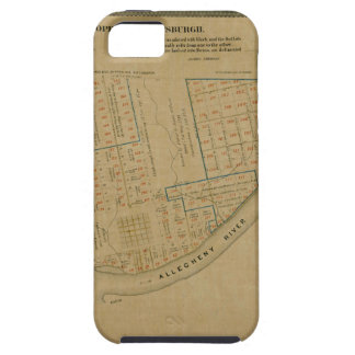 Map Of Allegheny 1863 Tough iPhone 5 Case