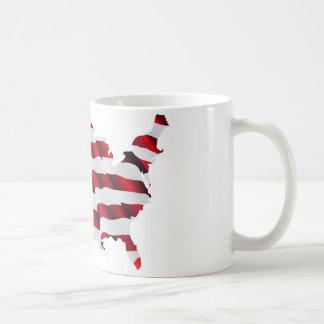 Map of America American Flag Coffee Mug