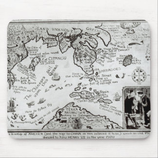 Map of America and directions to China Mouse Pad