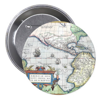 Map of Americas New World 1570 Buttons