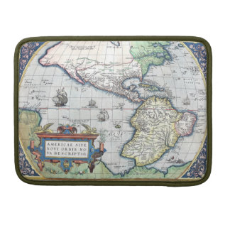 Map of Americas New World 1570 MacBook Pro Sleeves