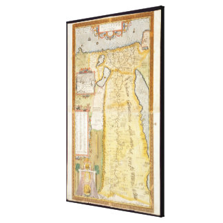 Map of Ancient Egypt, 1584 Gallery Wrapped Canvas