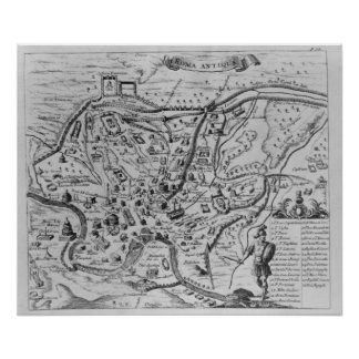 Map of Ancient Rome Poster