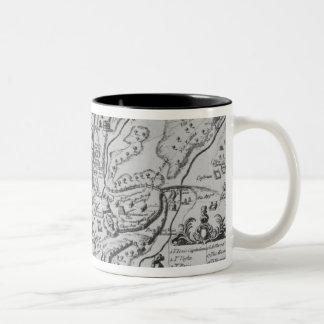 Map of Ancient Rome Two-Tone Coffee Mug