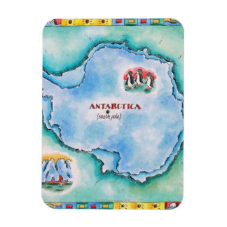 Map of Antarctica Rectangular Photo Magnet