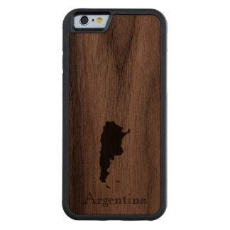 Map of Argentina: Classic Design Walnut iPhone 6 Bumper Case