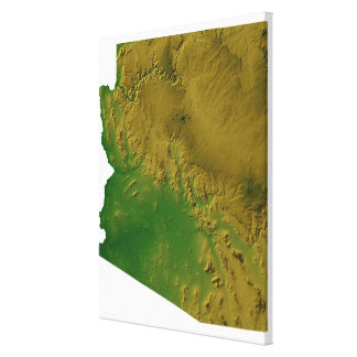 Map of Arizona 2 Gallery Wrap Canvas