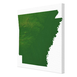 Map of Arkansas Stretched Canvas Print