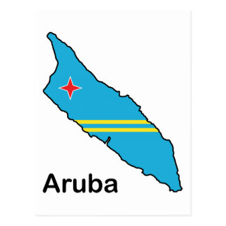 Map Of Aruba Postcard