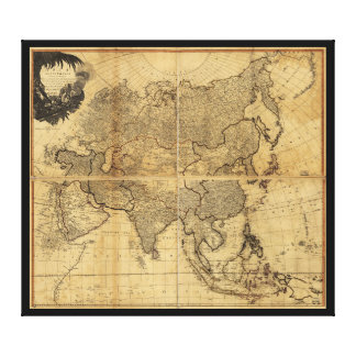 Map of Asia and it's Islands (1799) Canvas Print
