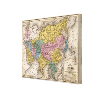 Map of Asia Stretched Canvas Prints