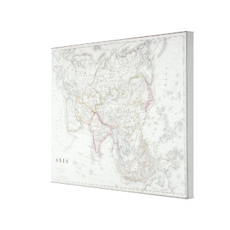 Map of Asia Canvas Prints