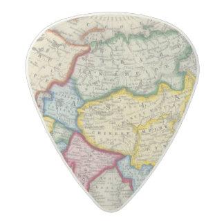 Map Of Asia Acetal Guitar Pick
