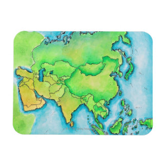 Map of Asia Rectangular Photo Magnet