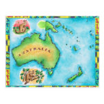Map of Australia 2 Post Card