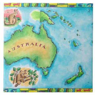 Map of Australia 2 Tile