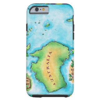 Map of Australia 2 Tough iPhone 6 Case