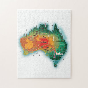 Map Of Australia Jigsaw Puzzle.Map Of Australia Jigsaw Puzzle