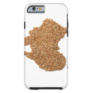 Map of Australia made of Glutinous Rice Tough iPhone 6 Case
