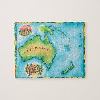 Map of Australia Jigsaw Puzzles