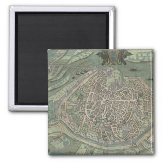 Map of Avignon, from 'Civitates Orbis Terrarum' by Magnet